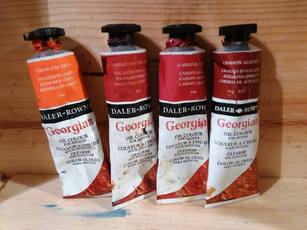 tube huile rouges